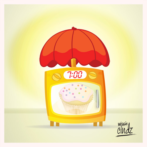 The 'Missie Cindz' Wake-up Light with Oven Alarm