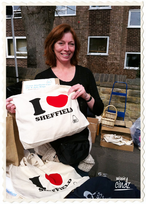 I Love Sheffield tote bags