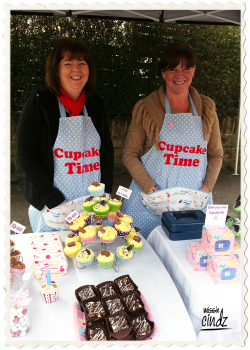 The lovely ladies at the 'Cupcake Time' stall. Eat cake and be happy!