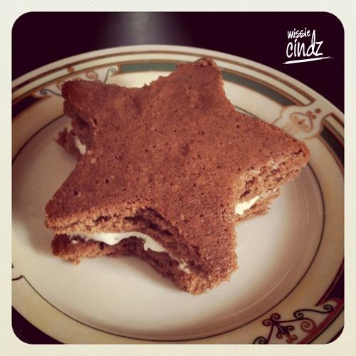 Homemade Missie Cindz chocolate Whoopsie Stars