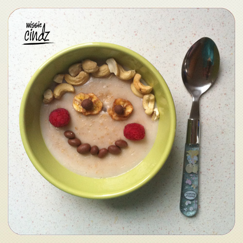 My Breakfast this morning - start your day with a yummy smile!