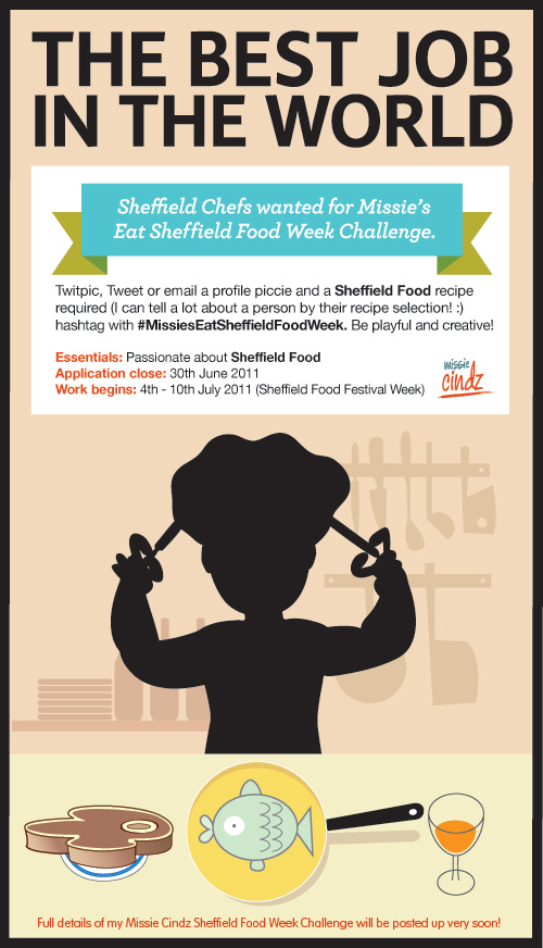 Missie is looking for Sheffield Chefs to tweet in touch