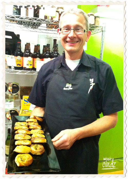 The very talented Peter with PJ Taste's Sheffield 'Steel City Buns'