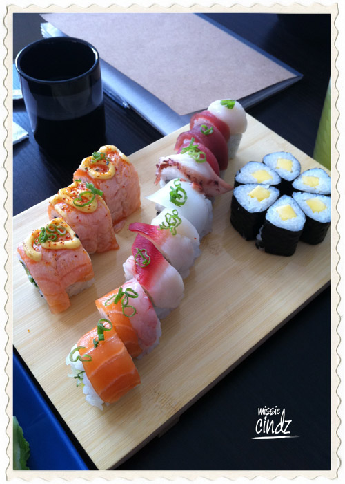 A colorful and healthy sushi lunch? Yes please!