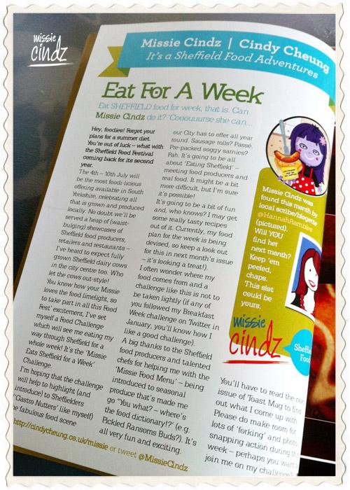 Missie Cindz in Toast Magazine June 2011