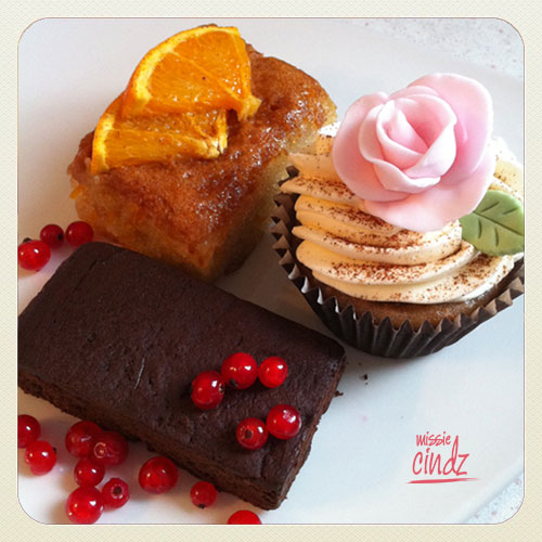 Lorna's Heavenlies - chai latte cupcake made with TeaBox tea and orange & almond cake with Sheffield Honey syrup