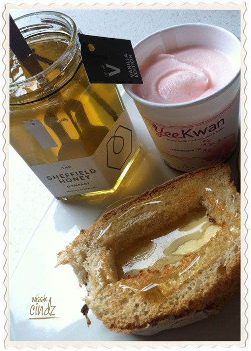 Sheffield Honey buttered toast served with Yee Kwan ice cream