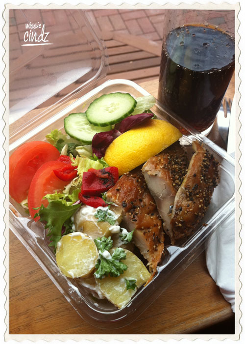 Day 2, meal 5: PJ Taste peppered mackerel salad