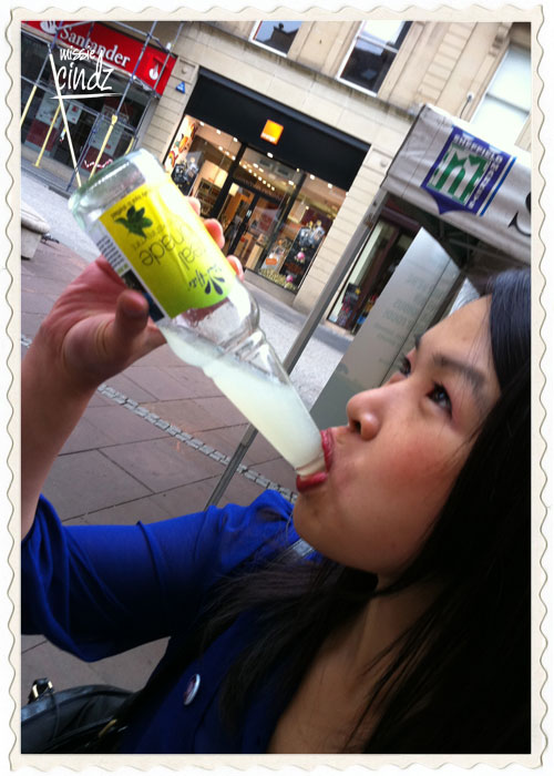 Cindy enjoying a PJ taste Citrus Hit....slurp!