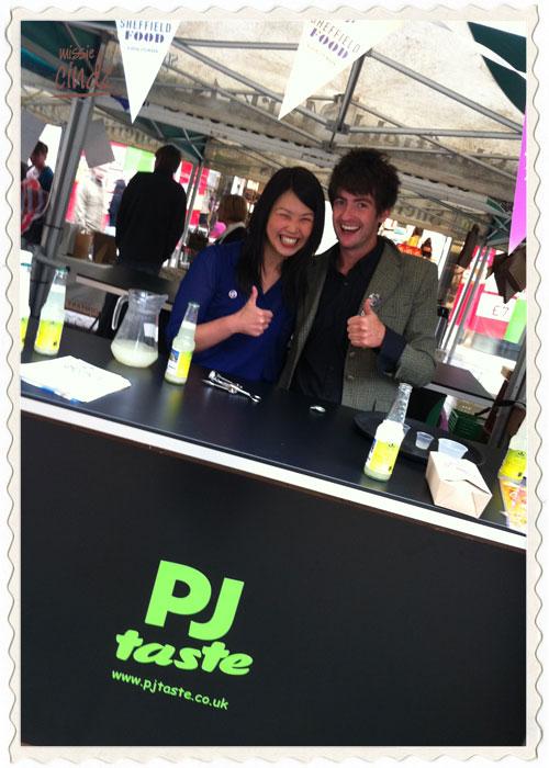 PJ taste's Citrus Hits Sheffield Food Showcase stall on Fargate