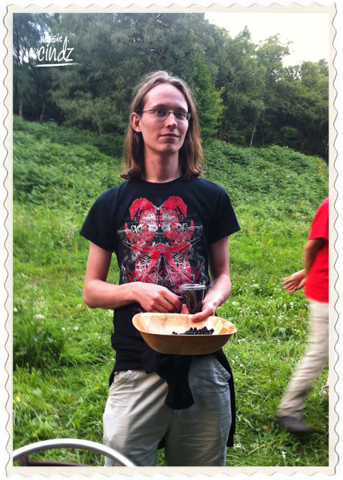Sam, our blueberry forager winner. He collected the most amount of blueberries on our expedition