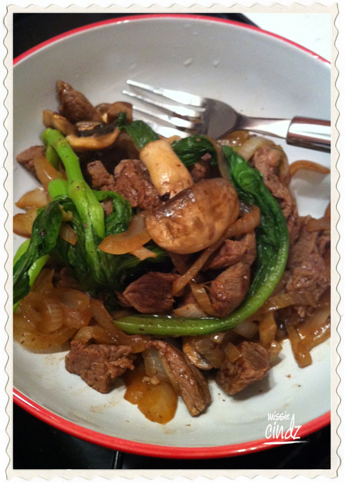 Friday night takeaway? Nah...make your own, Chinese beef stir-fry with pak choi and spinach