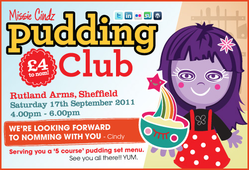 Missie Cindz seasonal pudding club on 17th September 2011