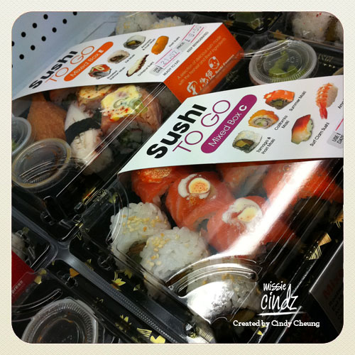 Sushi Express 'Sushi To Go' branding and packaging