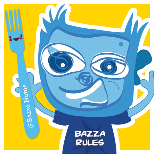 Please meet Bazza. Who's Missie's new foodie friend and he's nicked her smiley fork!