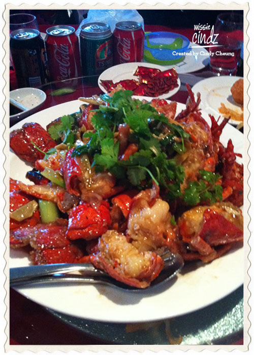 The stir-fried lobster (usually course 6) symbolises the dragon, the essence of the husband