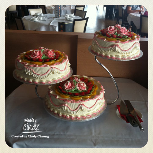 Cake 1: Jenny and Ming's wedding cake