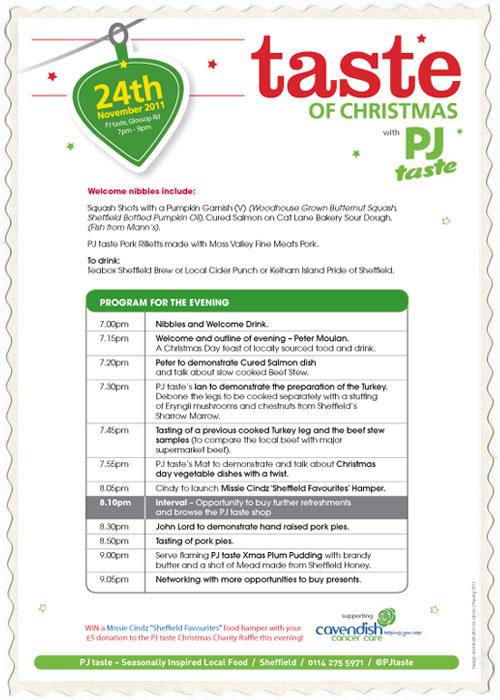 A Taste of Christmas with PJ taste, 24th November 2011