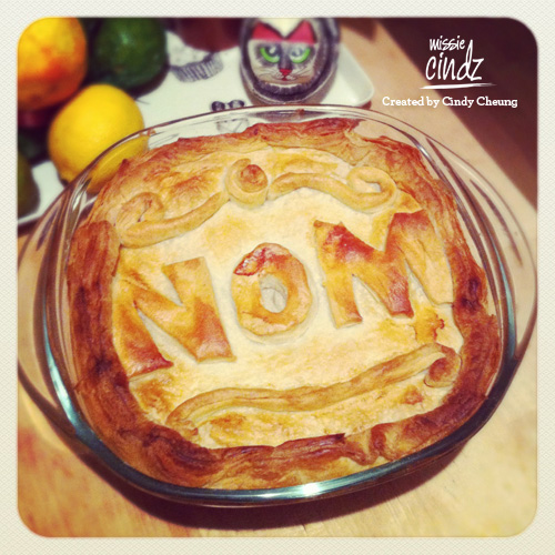 With cold days like these, NOMful chicken pie makes things so much better!
