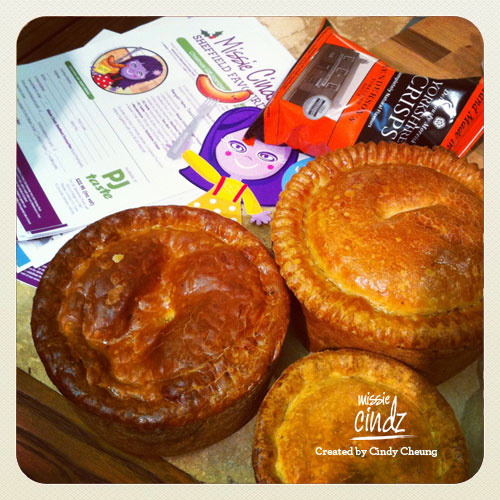 Missie Cindz with John Lords enormous porkie pies – these were huge!