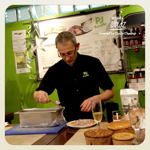 PJ taste's Peter Moulan showing us how make cured salmon for Christmas