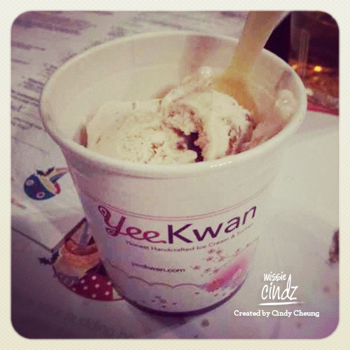 Pud 3: Yee Kwan Christmas Pudding flavoured ice cream