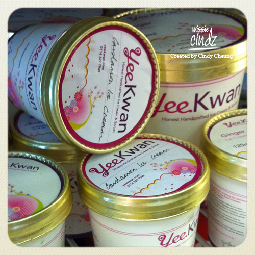 Yee Kwan ice cream found in local restaurants, delis, farm shops and at markets around the area.