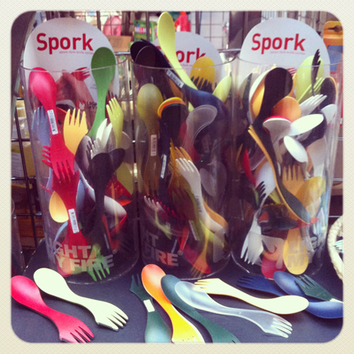 Yay, finally I have my own Spork – Spoon, Fork, Knife in one!