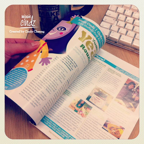 Find my Missie Cindz' monthly food column in Sheffield's Toast magazine, it's a NOM read!