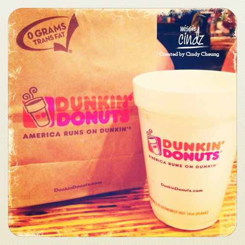 I had my first Dunkin' Donuts