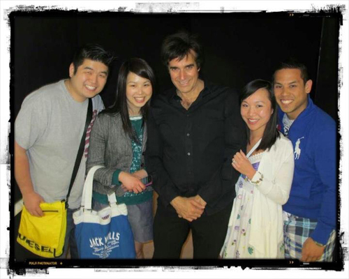 Meeting David Copperfield backstage after his amazing show was one of the highlights from my trip