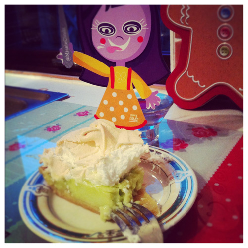 Scoffing key lime pie at home made today by #Brownies. Sweet.