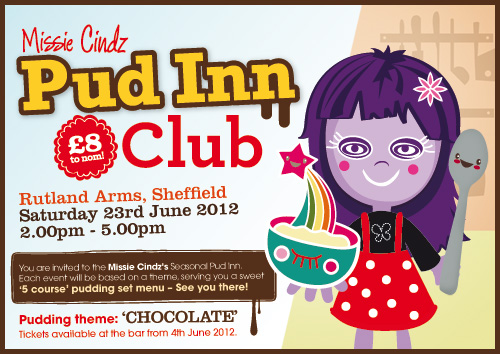Missie Cindz Chocolate theme Pud Inn Club