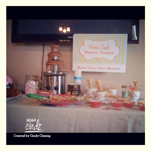 Missie Cindz Chocolate Sweet Treats table