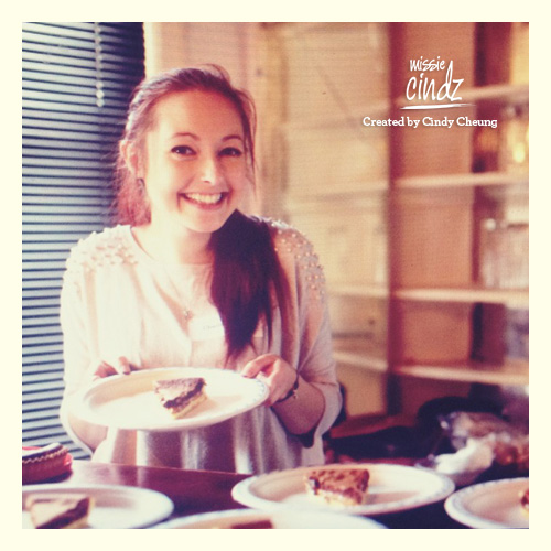 Charlotte with her Chocolate Millionaire Pie – blingin' sweet stuff!