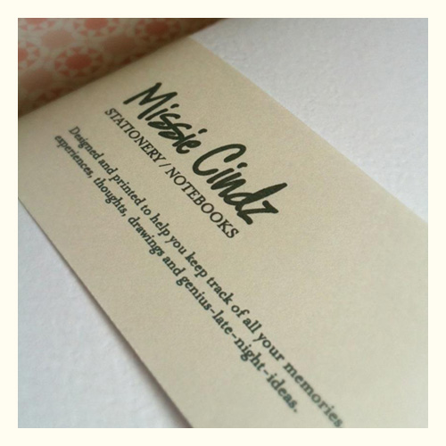 Missie Cindz stationery