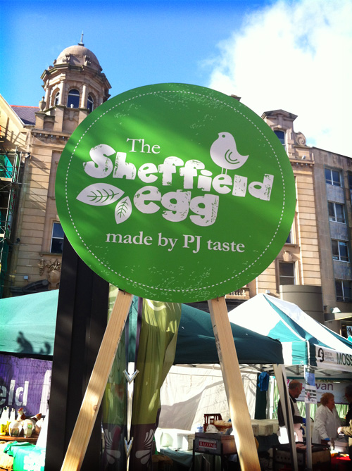 PJ taste's Sheffield Egg made its first appearance at the Sheffield Food Festival