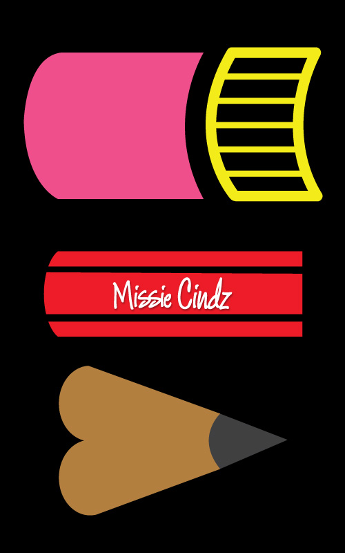 Set of 3 Missie Cindz Creative Pencils available from my Webshop Take Away