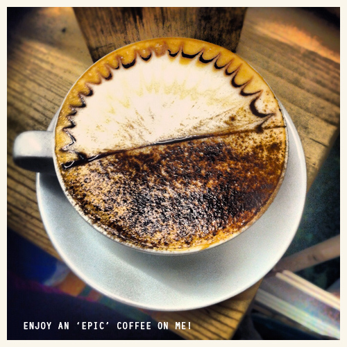 Enjoy an EPIC FREE hot drink on me this winter