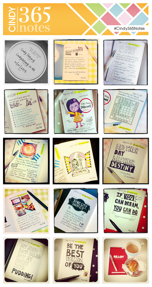 Cindy 365 Notes Challenge 2013 #Cindy365Notes