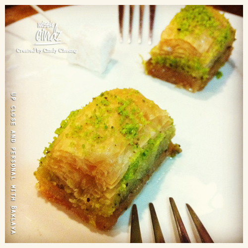 Up close and personal with Baklava