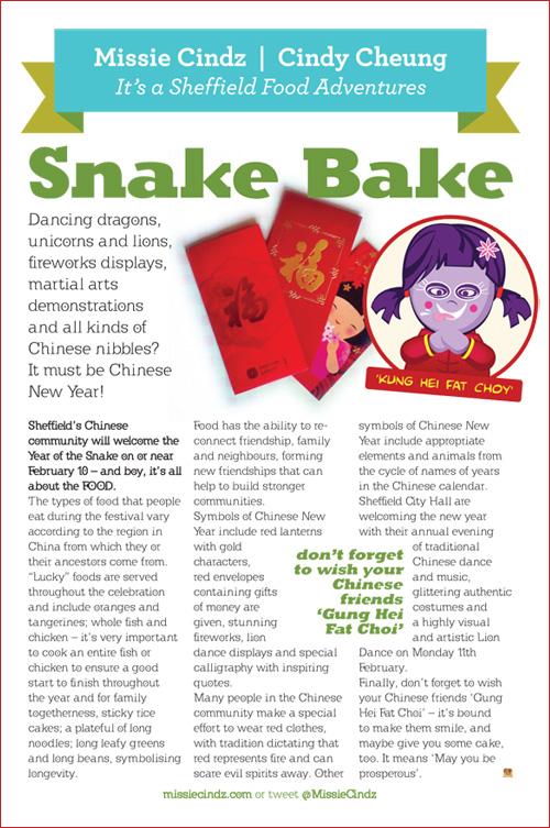 Missie Cindz Sheffield foodie column in this month's Toast magazine. Enjoy!