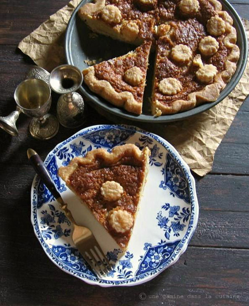 Brown sugar buttermilk pie by Valerie of Une Gamine dans la Cuisine