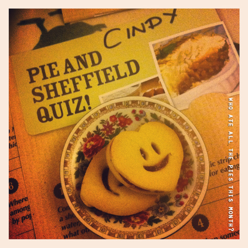 Enjoyed a great hearty night in with homemade pie, peas, quiz and lovely locals