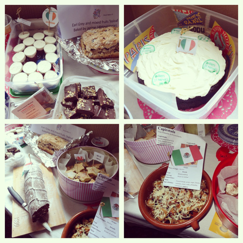 The amazing array of Around the World treats baked by generous PudInn diners