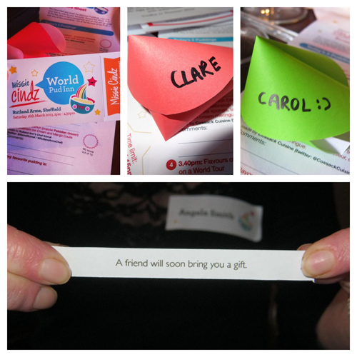 Missie's paper fortune cookies