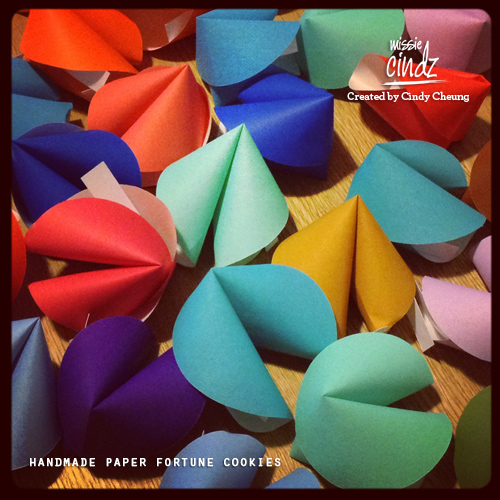 Handmade paper fortune cookies for #MissiesPudInn. Success is in the details.