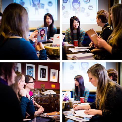 Missie Cindz workshop at Blog North