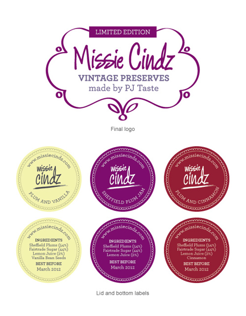 Missie Cindz Vintage Preserves label stickers