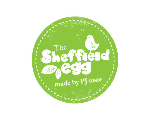 The Sheffield Egg logo identity